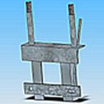 Оголовье ОГ-1 типовая стальная конструкция железобетонных опор
