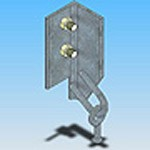 Оголовье ОГ-10 типовая стальная конструкция железобетонных опор