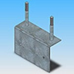 Оголовье ОГ-7 типовая стальная конструкция железобетонных опор