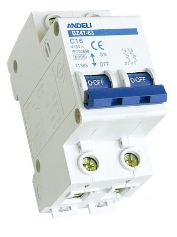 Выключатель автоматический 2P ANDELI DZ47-63