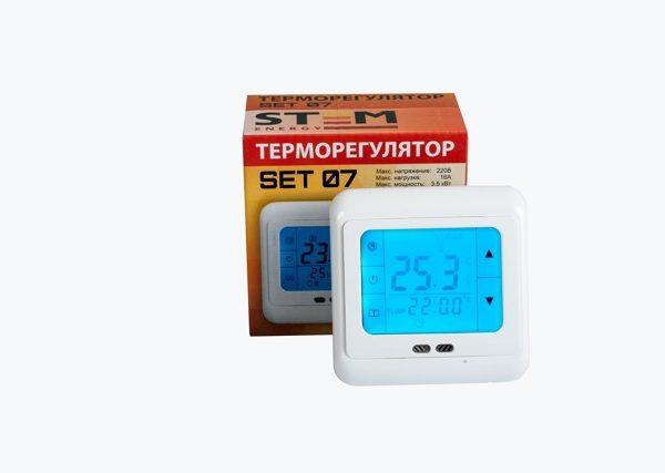 Терморегулятор STEM Energy SET 07 (программируемый, сенсорный)