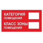Знак «Категория Класс помещения»