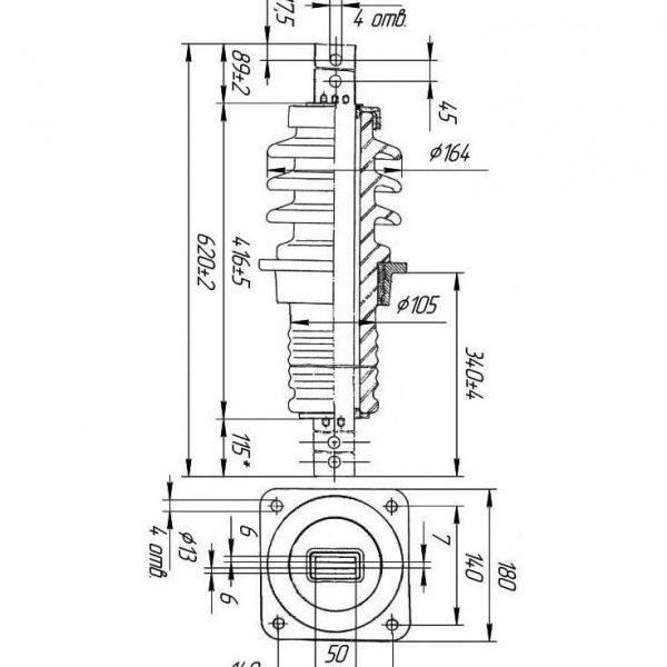 Изолятор проходной ИП-10/1000-7,5