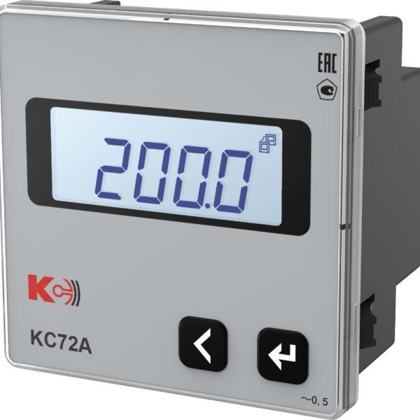 КС72А — Амперметр одноканальный (лицевая панель 72х72 мм)