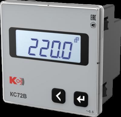 КС72В — Вольтметр одноканальный (лицевая панель 72х72 мм)