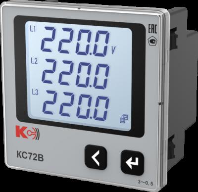 КС72В — Вольтметр трёхканальный (лицевая панель 72х72 мм)