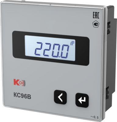 КС96В — Вольтметр одноканальный (лицевая панель 96х96 мм)
