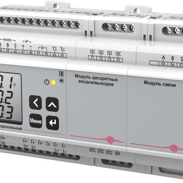 Многофункциональный прибор PD194E–8B(D)3T-М12C11. Исполнение на DIN-рейку.