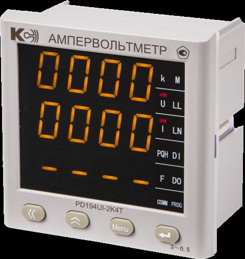 PD194UI — Ампервольтметр трехканальный (лицевая панель 120х120 мм)